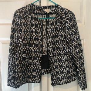J Crew Jacquard Jacket -  cute pattern!